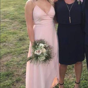 Pink Bridesmaid Wrap Dress
